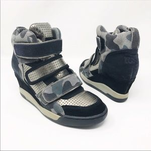 Ash Camo Wedge Sneakers Size 36